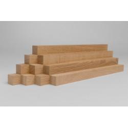 10er-Set Holzleiste - Eiche gehobelt - 25/25/500 mm