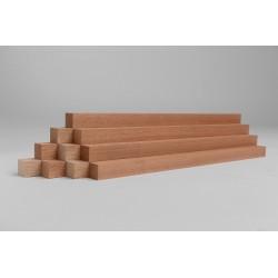 10er-Set Holzleiste - Mahagoni gehobelt - 40/40/500 mm