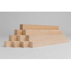 10er-Set Holzleiste - Lärche gehobelt - 40/40/500 mm