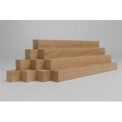 10er-Set Holzleiste - Eiche gehobelt - 40/40/500 mm